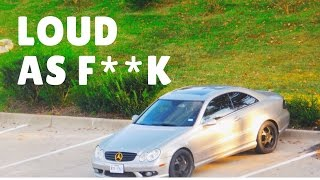 STRAIGHT PIPED MY CLK500!!!
