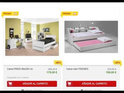 Camas juveniles conforama cat logo online youtube for Habitaciones juveniles 3 camas