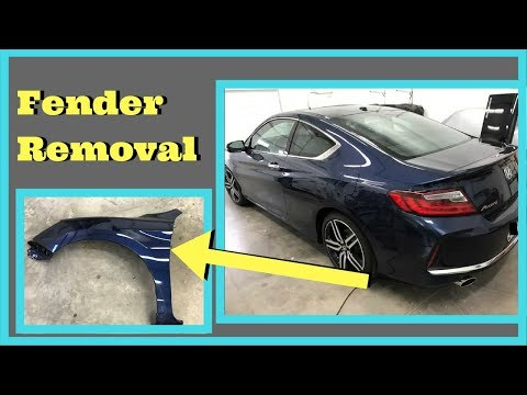 2013 2014 2015 2016 2017 Accord Fender Removal How to Remove Install Replace