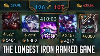 A 7 hour iron ranked game...