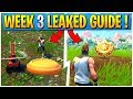 WEEK 3 CHALLENGES LEAKED! | Early Guide! | CLAY PIGEON Locations | Flush Factory Treasure Map