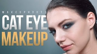 Кошачий глаз и коррекция лица | Видео уроки макияжа MAKE UP HOUSE | MAKE UP HOUSE