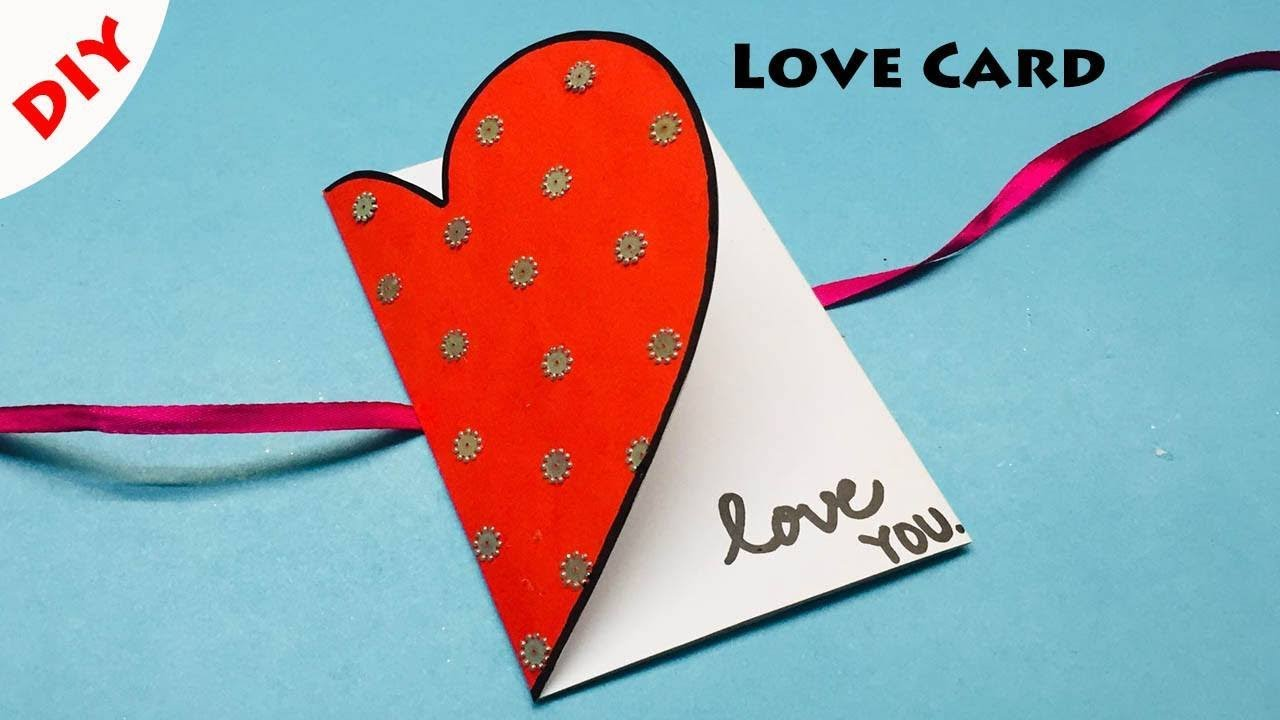 Love Greeting Cards Latest Design Handmade  How to Make a Love Card for  Loved Ones  #5