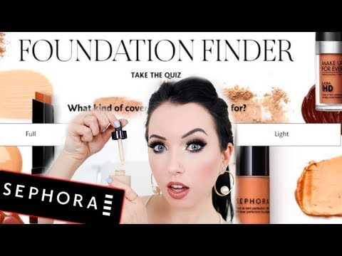 I took Sephora's FOUNDATION FINDER Quiz & Bought Whatever They Told Me...