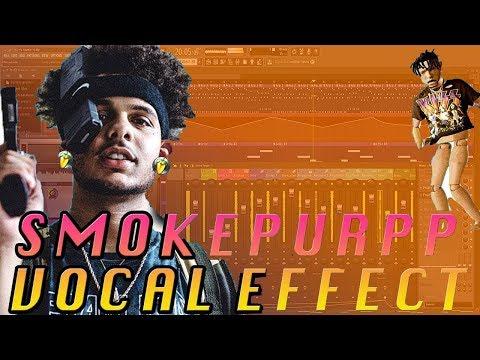 HOW TO SOUND LIKE SMOKEPURPP VOCAL EFFECT TUTORIAL! FL STUDIO