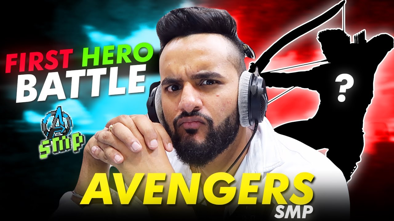 FIRST HERO BATTLE in AVENGERS SMP !! *New HERO is here* FT.@Ducky Bhai|| Day#2