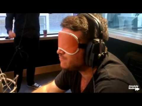 Richie eats dog biscuits live on Absolute Radio
