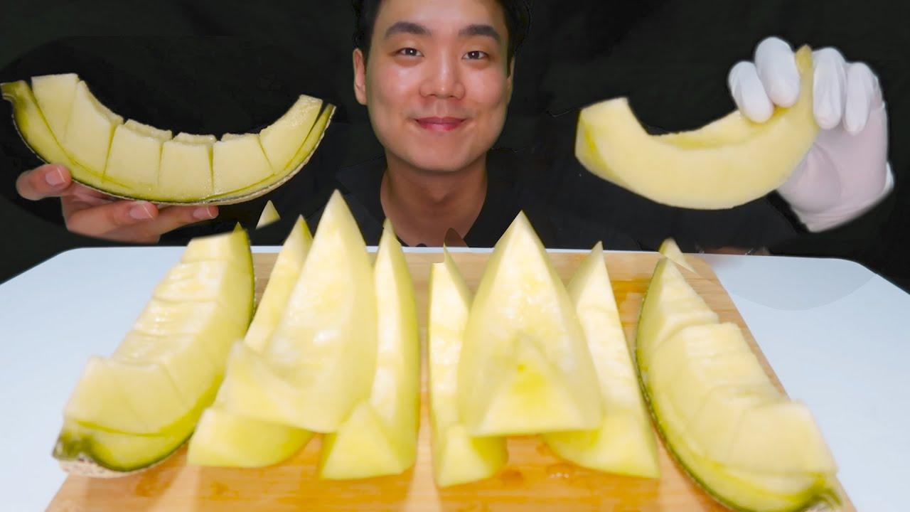 ASMR 먹방 멜론 메론 과일 과즙 / Melon fruit REAL SOUND MUKBANG eating sound