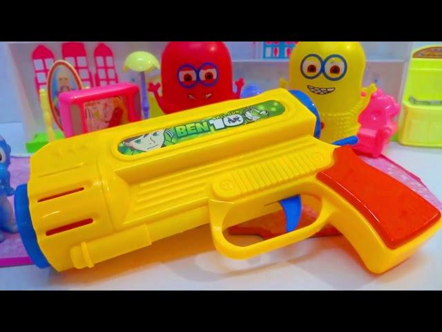 حلقة سنفور بيلعب بمسدس البولينج والكور مع ميمو وفلة