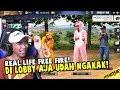 REAL LIFE FREE FIRE DI LOBBY TERNGAKAK!!! #2