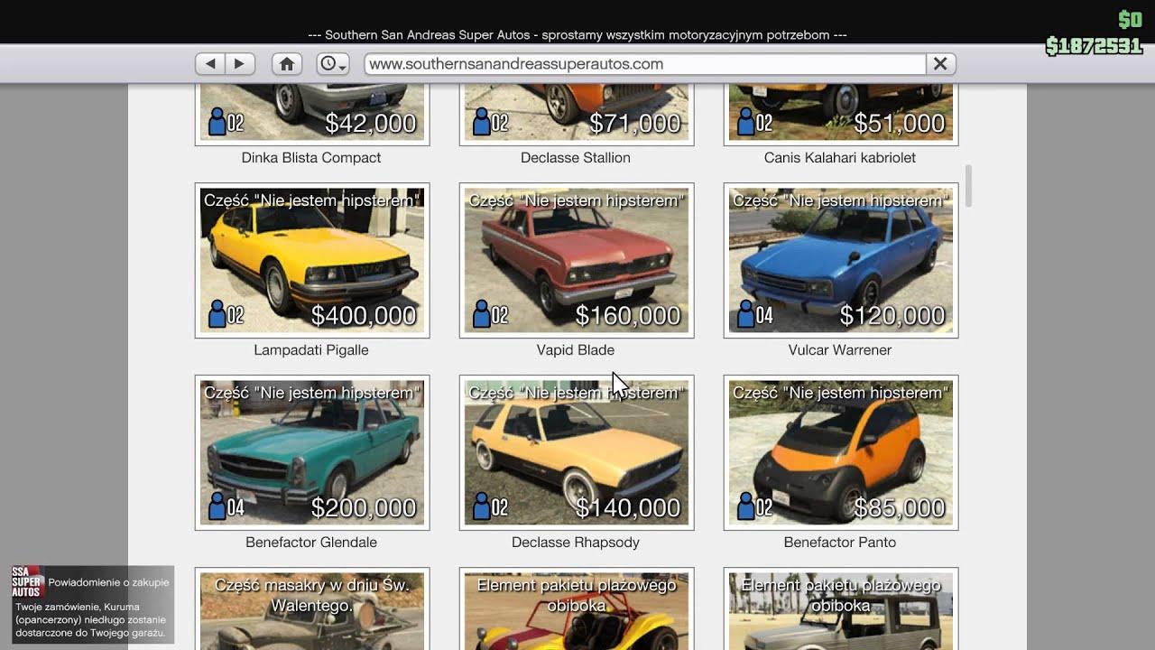 Gta 5 Cars List: Gta 5 Online Simeon Car List