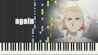 Fullmetal Alchemist: Brotherhood Opening 1 - again (Piano Synthesia)