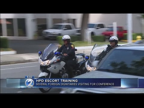 Honolulu police conduct escort training ahead of World Conservation Congress