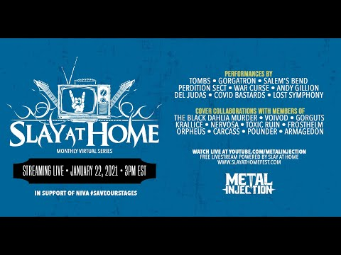 SLAY AT HOME Monthly (January) Live Stream   Metal Injection