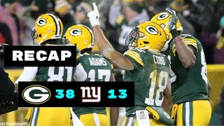 Green Bay Packers vs New York Giants Recap | NFL Wild Card Playoffs 1/8/2017