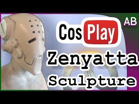 Zenyatta Mask Cosplay  Sculpt - Full Head Mask Overwatch Helmet Tutorial