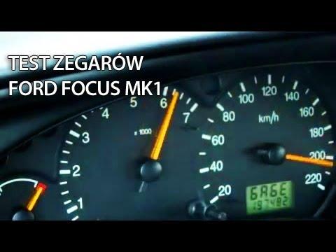 Menu Serwisowe zegarów Ford Focus MK1 (test mode, ukryte menu, tryb serwisowy)