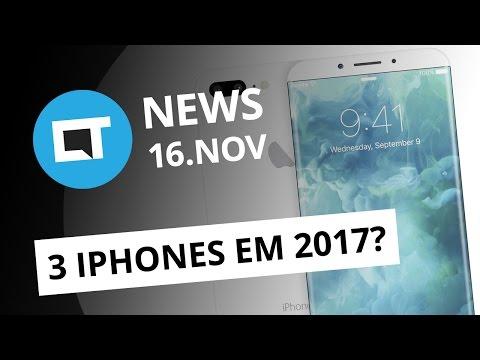 Três novos iPhones em 2017; Vendas de smartphones no Brasil voltam a crescer e + [CTNews]