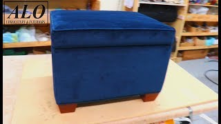 DIY - HOW TO REUPHOLSTER A STORAGE OTTOMAN - ALO Upholstery