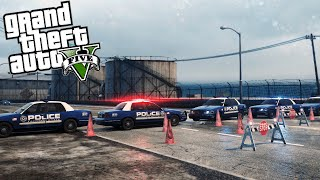 GTA 5 - POLICE ROAD BLOCK