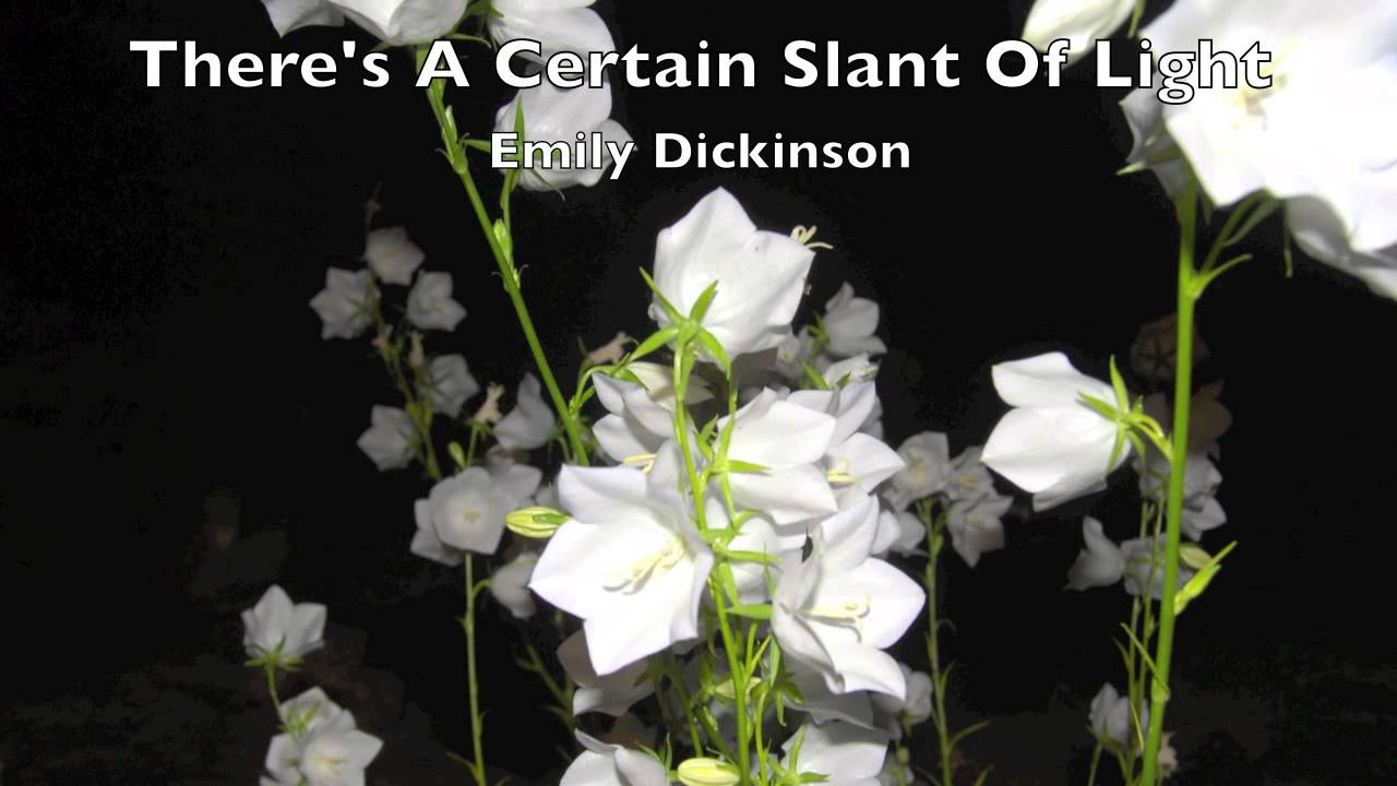 theres a certain slant of light emily dickinson analysis