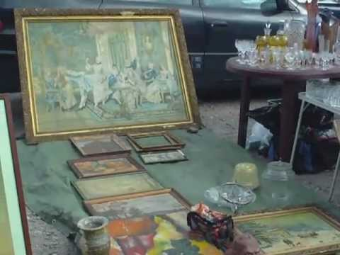 Warsaw Poland - A Tour Of The Antique Market in Kolo, Warsaw Poland.