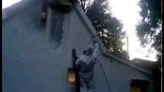 Hyvst Spt 670 окраска фасада безвоздушным краскопультом(HYVST SPT 670 - оборудование для окраски под высоким давлением через краскопульт безвоздушного распыления. Окрас..., 2016-10-01T06:46:36.000Z)