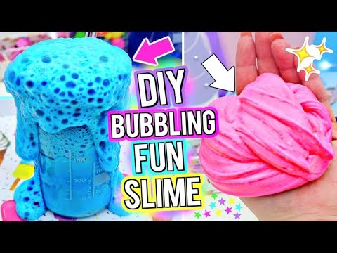 DIY BUBBLY Slime! School Slime Science Experiment! How To Make The MOST FUN BUBBLING SLIME Ever!