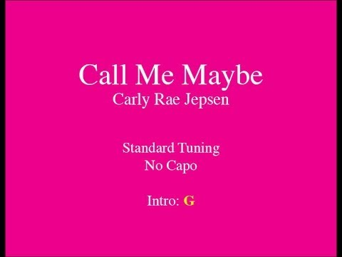 Call Me Maybe - Easy Guitar (Chords and Lyrics)