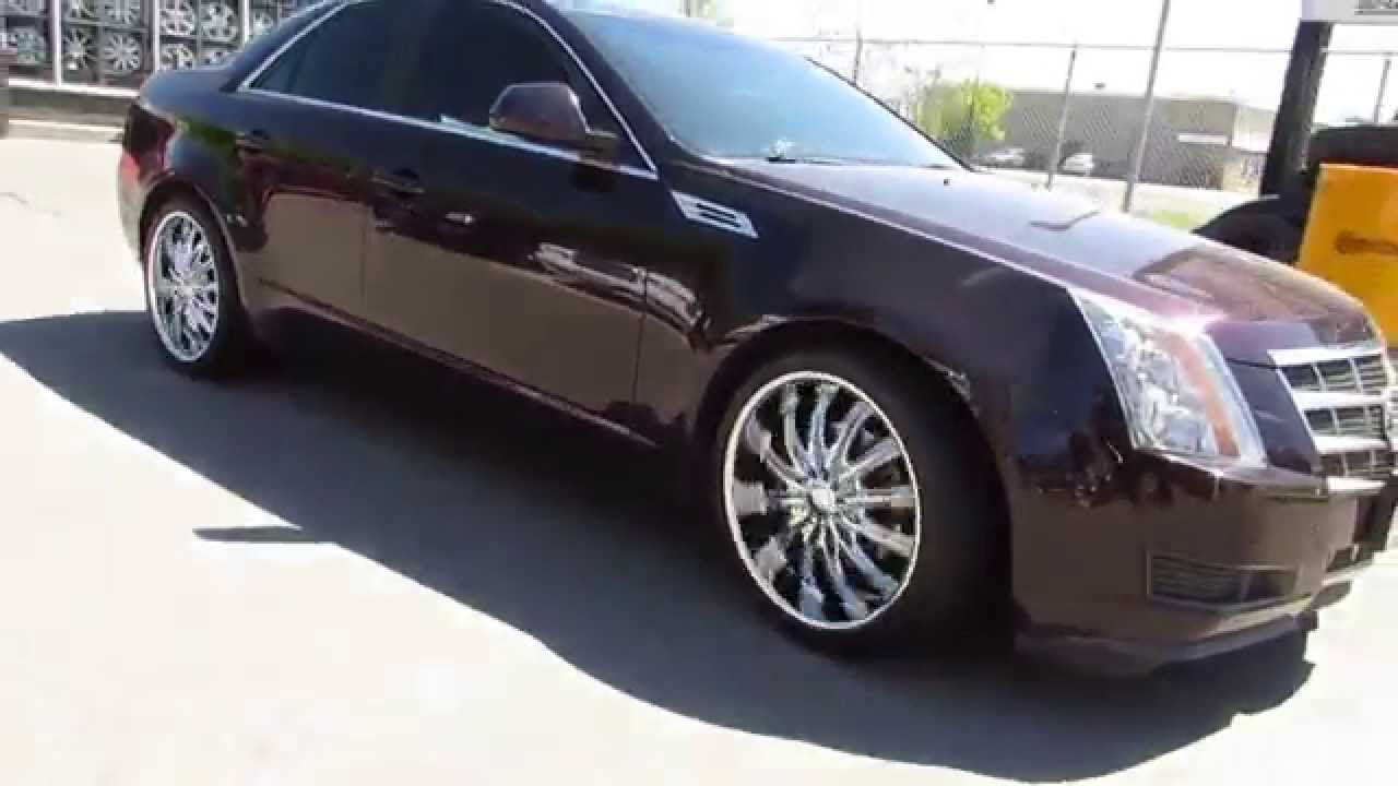 HILLYARD RIM LIONS 2010 CADILLAC CTS WITH 20 INCH CHROME SPOKE RIMS
