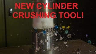 crushing water marbles and thinking putty with hydraulic press