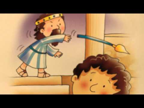 Desenho Bíblico Infantil, Rei Davi...