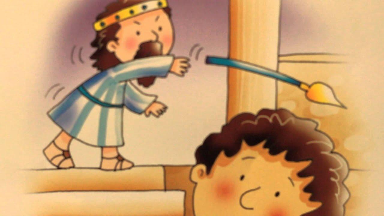 Desenho Bíblico Infantil, Rei Davi Primeira Parte.
