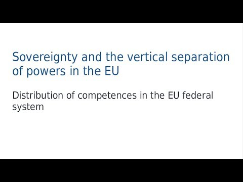 Sovereignty and the vertical separation of powers in the EU