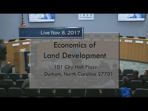 Economics of Land Development Nov 8, 2017