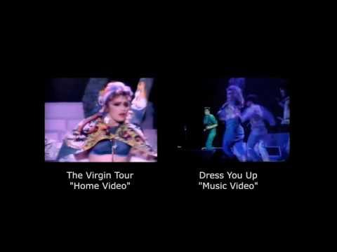 Madonna Dress You Up (edit comparison)