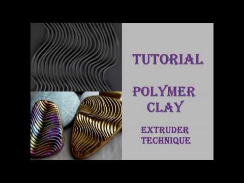 DIY|Embossed Pattern From Polymer Clay Part 1