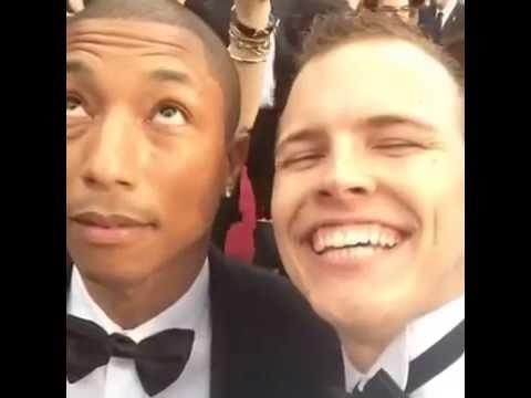 Pharrell Williams is NOT Happy?! Oscars 2014