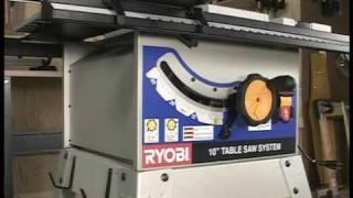 Ryobi BT3100 Table Saw - Part Two