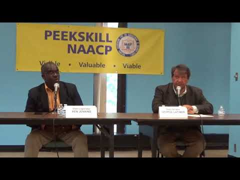 George Latimer and Ken Jenkins, Candidates Forum, Field Library, 9th September 2017