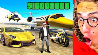 Giving A Friend $16,000,000 To Buy ANYTHING In GTA 5!