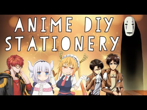 ANIME DIY - SCHOOL SUPPLY - STATIONERY - GIVEAWAY