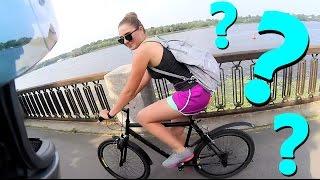 Реакция веллерши на подкат мотоциклиста. Знакомство с девушкой.
