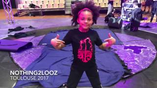 Nothing2Looz Kids Battle Cypher 2 Qualifier Bgirl Terra vs Cis vs Spider vs Jake