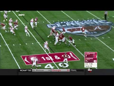 Alabama vs Wisconsin, 2015 (in under 32 minutes)