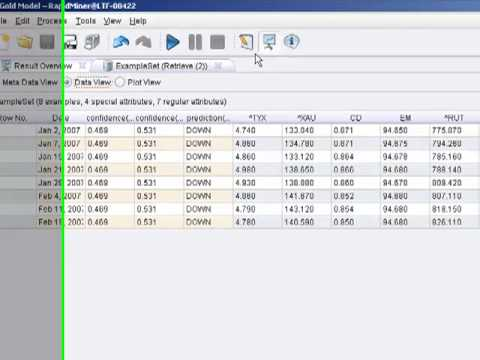 Rapidminer 5 0 Video Tutorial #3 - Building a Gold Classification Trend  Model Part 2