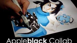 Odunze Apple Black Collaboration Manga Drawing
