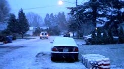 Snow Day!  Weather Report Keizer, Oregon, USA   March 6, 2012 6:30 am
