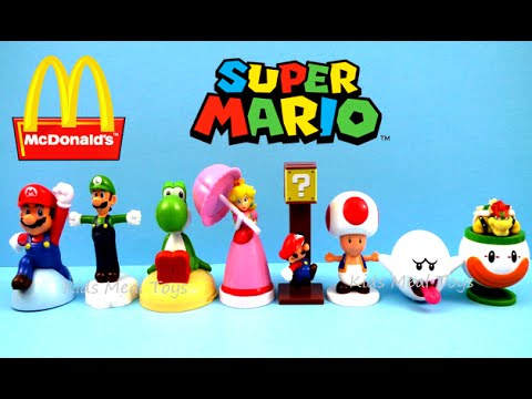 2016 Mcdonalds Nintendo Super Mario Set Of 8 Happy Meal Kids Toys Review Japan