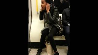 Screaming Crazy Girl on the London Underground 2015 Part 2